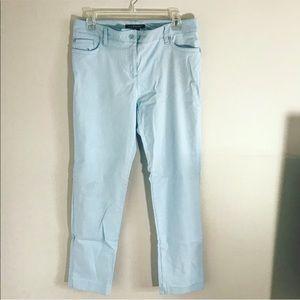 Zac&Rachel blue stretchy straight leg pants Sz 10